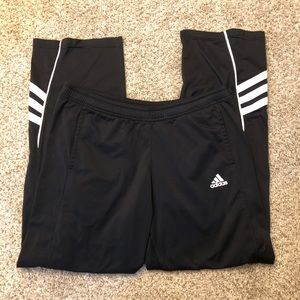 Adidas Black and White Athletic Pants
